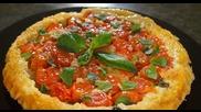 Тарт с чери домати и ементал