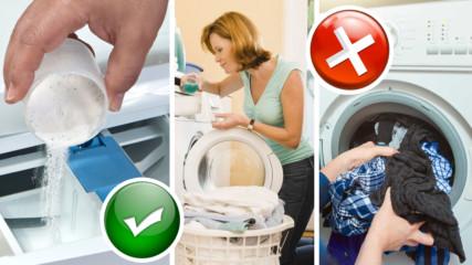 Там всички грешим: 7 навика при прането, които съсипват дрехите
