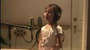 7 годишно момиче пее изумително Amazing Grace