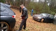 Subaru помага на Bmw - хлъзгаво си е !