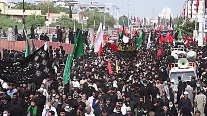 Pakistan: Thousands of worshippers join Arbaeen procession in Karachi