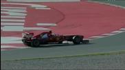F1 2013 - Massa си губи едната гумата по време на тестовете в Барселона [hd]
