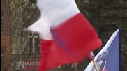 Czech Republic: Hundreds of anti-Islam protesters rally in Pilsen
