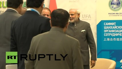 Russia: PM Modi and PM Sharif meet on side-lines of SCO summit