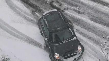 Така става като не слагаш зимните гуми