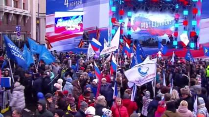 Russia: Muscovites celebrate Unity Day in capital