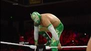 Alexander Rusev vs Sin Cara - Raw April.21.2014