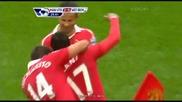 Страхотна асистенция на Димитър Бербатов за гола на Уиш Нани - Манчестър Юнайтед 2:2 Уест Бромич