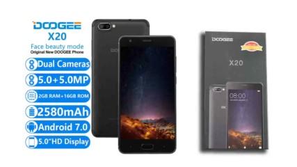 Doogee x20 smartphone unboxing