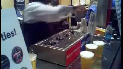 Така се пълни бира!