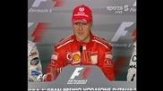 Михаел Шумахер обявява че се отказва от спорта - Монца 2006