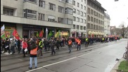 Switzerland: Hundreds of pro-Kurdish protesters brave snow to rally in Berne