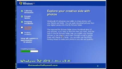Инсталация / Преинсталация на Windows Xp