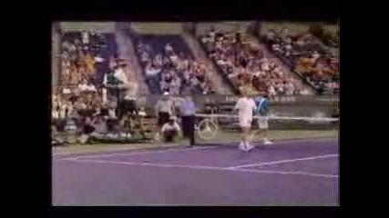 Агаси - Федерер Indian Wells (Смешно)
