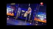 Унрайна търси талант Anastasia Sokolova побърка хората с танцът си