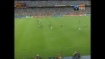 Първият гол на Меси във Барселона срещу Атлетико Мадрид