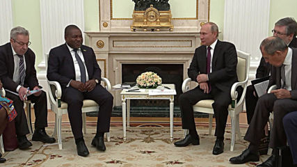 Russia: Putin meets Mozambican President Filipe Nyusi in Moscow