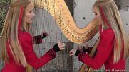 Metallica One ✴ 2 Girls 1 Harp Harp Twins Harp Metal