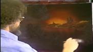 S01 Радостта на живописта с Bob Ross E03 - абаносов залез ღобучение в рисуване, живописღ