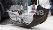 Шофьорка без книжка се заби във витрина на магазин във Варна