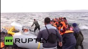 Greece: Desperate refugees continued to be pulled ashore in Lesbos