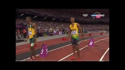 Юсейн Болт над всички 200m мъже финал Лондон 2012