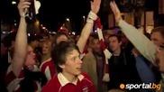 Феновете на Байерн празнуват със заря класирането за финала на Шл в Мюнхен
