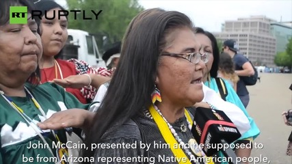 'John McCain is a Traitor' – Apache Stronghold Caravan