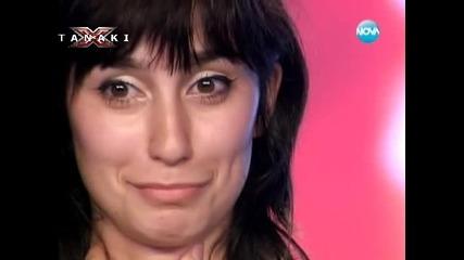 Момиче се разплака на сцената на X - Factor ( Страхотен талант ) 16.09.11 Vbox7