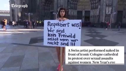 Köln naked protest in Cologne over sex attacks