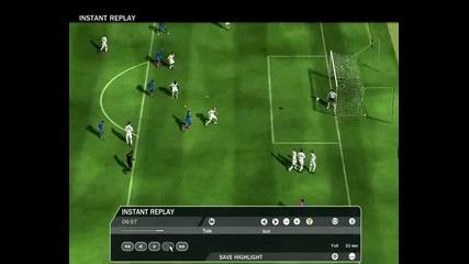 Гол на Xavi с външен фалц - Fifa 09