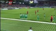 Локо Сф вкара за 1:4 срещу Лудогорец