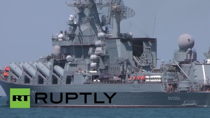 Russia: Black Sea Fleet's flagship sets off for naval drills with China
