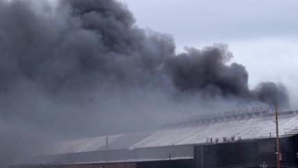 USA: Black smoke rises over Lackawanna as fire rocks former steel plant