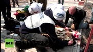 Ukraine: Russian journalist wounded by trip-wire booby trap *GRAPHIC*