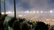 Потресаващи кадри от рухналата сцена в Индианаполис!