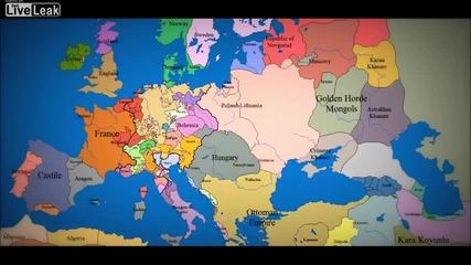 Evropejskata Karta Za Poslednite 1000 Godini Vizhte Kak Se E