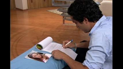 Miguel escribe una carta de despedida a mia
