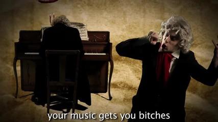 Epic Rap Battles of History Част 1-justin Bieber Vs Beethoven