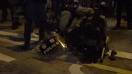 Hong Kong: Police disperse Yuen Long attack memorial sit-in