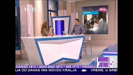 Indira Radic - Intervju + Spot - Los si rodjen - Dobro Jutro (TV PINK 2014)