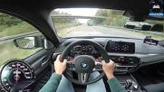 Bmw M5 F90 Competition 625hp Autobahn Pov 309km h