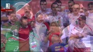 Националният химн след великата победа над Германия