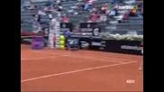 Simona Halep vs Alexandra Dulgheru Rome 2015 part 2