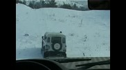 Land Rover Defender 110 snow offroad 2