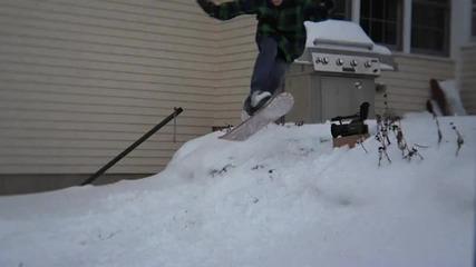 Snowboard смешни падания !