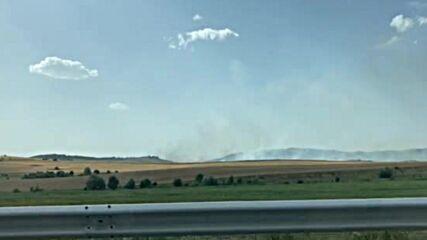 МОЯТА НОВИНА: Огромен пожар застрашава гората над Големо Бучино