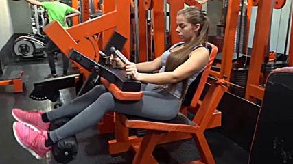 Бедрено сгъване на машина от седнало положение - Симона Георгиева