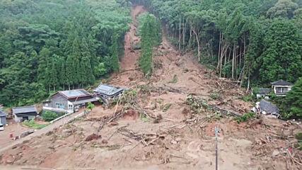 Japan: Drone captures damage left after mudslide in Ashikita