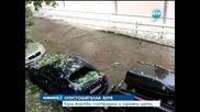 Ураганен вятър и силен град с големината на яйце удариха столицата в късния следобед